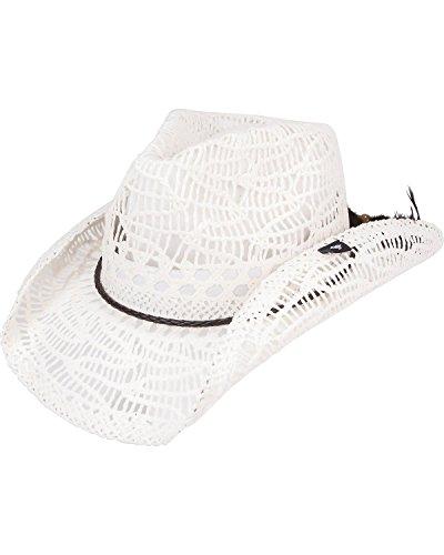 Peter Grimm Ltd Women's Abilene Straw Cowgirl Hat White O...