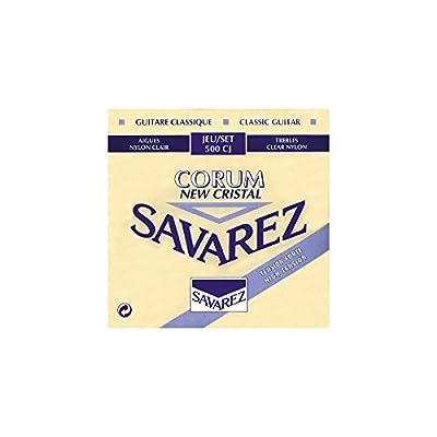 Savarez. 500CJ Corum Cristal Classical Guitar Strings, High Tension, Blue Card by Savarez.