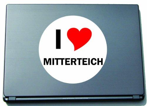 I Love Aufkleber Decal Sticker Laptopaufkleber Laptopskin 210 mm mit Stadtname MITTERTEICH