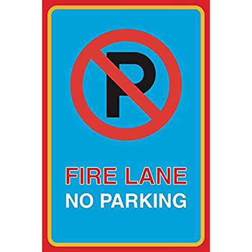 """Diuangfoong Fire Lane No Parking Print Picture Notice Business Office Car Lot Street Road Aluminum Metal Tin 12""""x18"""" Sign Plate from Diuangfoong"""