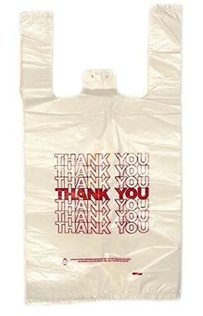 Amazon.com: Fuera de plástico THANK YOU bolsas – 12