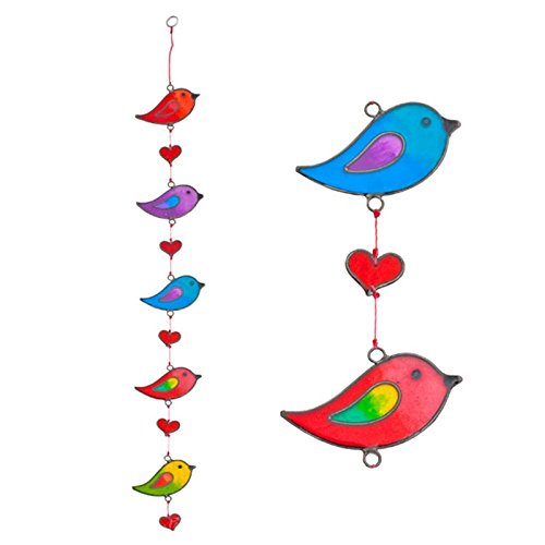 Suncatchers Colorful Bird Stained Glass Effect Resin Mobile - Beautiful Window Hanging - Home Decoration by Suncatchers (Image #2)