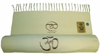 Yoga-Mad Organic Cotton Yoga Rug Natural by Yoga Mad