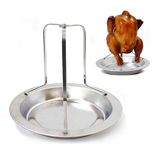Barbecue Beer Can Chicken Roaster Drip Pan!! - 3