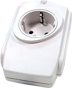 Cablematic - Enchufe Protector Sobrecargas con Filtro EMI/RFI (250V/16A)