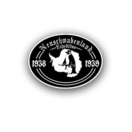 Neuschwabenland Expedition 1938 39 Antarctic South Pole Germany Colony Research badge emblem for Audi A3 BMW VW Golf GTI Mercedes (10x7cm) - Sticker Wall Decoration