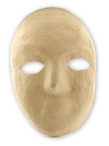 The Chenille Kraft Company Paper Mache Mask full mask 8 in. x 6 in. each [PACK OF 6 ]