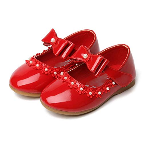 Price comparison product image Party Girls Shoes New Baby Children Kids Girl Princess Leather Red Shoe Spring Autumn Size 21~35 Red 9.5