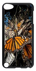DIY Fashion Case for iPod Touch 5 Generation Black PC Case Back Cover for iPod Touch 5th with Butterfly