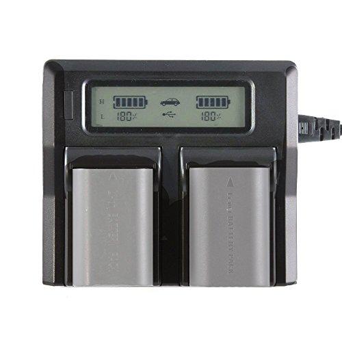 Fotga LCD Dual Battery Charger for Canon LP-E6 7D 6D 5D II III 5Ds 70D 60D 80D
