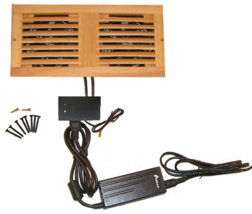 CabCool1202 Dual 120mm Fan Cooler Kit with Custom Wood Grill/Thermal Controller
