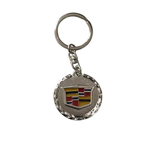 ffomo Bearfire car Logo Key Chain Zinc Alloy Genuine Leather Key-Ring (Cadillac, 1)