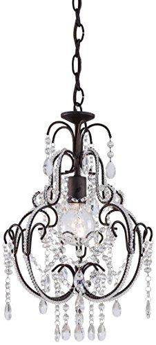 Minka Lavery 3123-489, Mini Crystal Chandelier Lighting, 1 Light, 60 Watts, Bronze