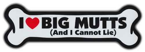 GIANT SIZE!!! Dog Bone Magnet: I Love Big Mutts | Cars, Trucks, Refrigerators