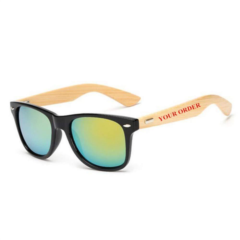 ZHOUYF Gafas de Sol Logotipo Personalizado Pie De Bambú ...