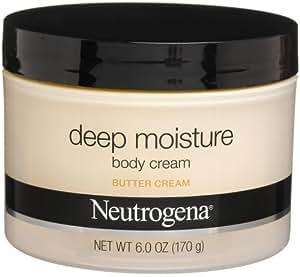 Neutrogena Deep Moisture Body Cream, Butter Cream, 6 Ounce