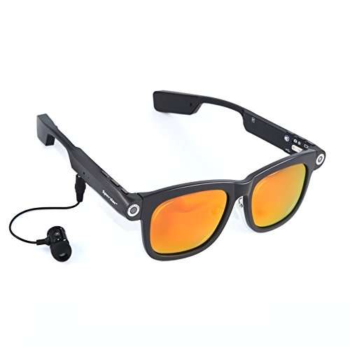 Price comparison product image Spardar Polarized Camera Sunglasses 1280x720p CSR4.0 Bluetooth Built-in 8GB TF Card Doze Reminding Mini Flashlight