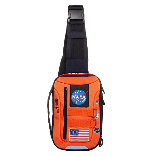 Buzz Aldrin NASA Polyester Waist Fanny Pack Sling Bag Travel Hiking Running Outdoor Cycling (Sling/Hip -