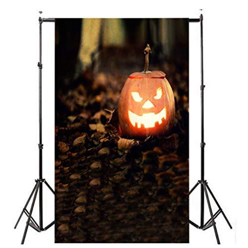 Hot Sale!UMFun Halloween Backdrops Pumpkin Vinyl 3x5FT Lantern Background Photography Studio Background Photography (B) (J)