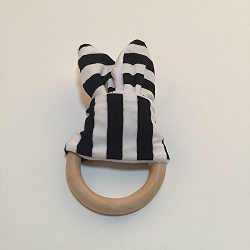 Maple Baby Crib ((Black&White) 1 Pcs Retail Baby Teether Teething Ring Wood Ring Maple Teething Ring Round Natural Wood Beads Toys For Baby Smooth By Polar Bear's)