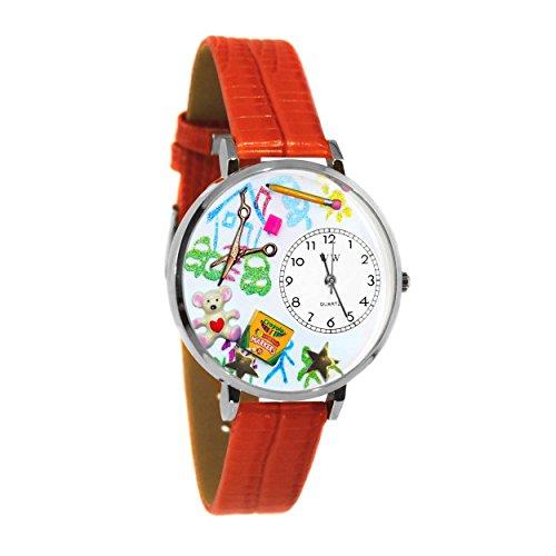 Whimsical Watches Unisex U0640003 Preschool Teacher Red Leather Watch