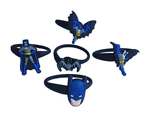 [AVIRGO 5 pcs Releasable Ponytail Holder Elastic Rubber Stretchable No-slip Hair Tie Set Set # 120 -] (Dc Comics Penguin Costumes)