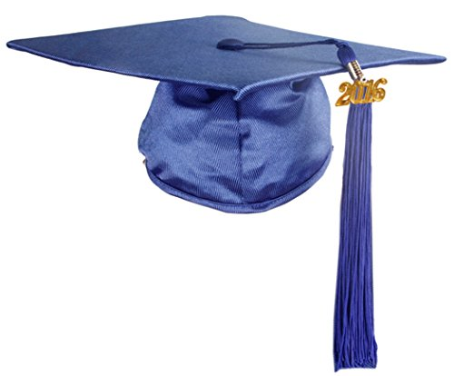 GraduationMall Shiny Finish Kindergarten Graduation Cap with Tassel 2015 Royal (Kids Graduation Hat)