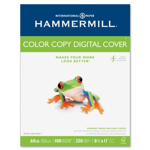 Hammermill Cover Color Copy Paper (Hammermill Color Copy Digital Cover Stock, 60 lbs, 8-1/2 x 11, White, 250 Sheets)