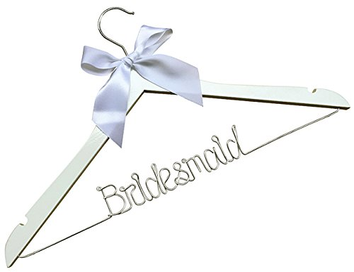 - Bridesmaid Wire Hangers,Wedding Custom Name Hanger, Custom Initials Bridemaids Dress Hangers, Personalized Wedding Gifts, Heart, Silver Wire Hangers,