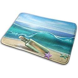 Pyta Non-Slip Doormats Ocean Wave Entrance Rug Indoor/Outdoor Carpet Absorbs Moisture Washable Dirt Trapper Mats