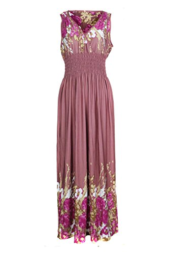 Dress Paisley Print Jersey (G2 Chic Women's Bohemian Printed and Patterned Spring and Summer Dress(DRS-MAX,DPK-M))
