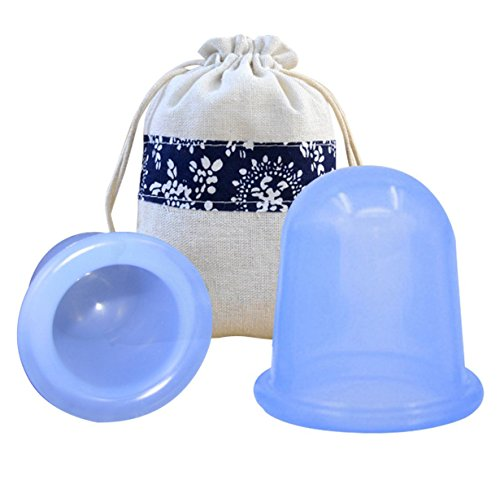 DUTU Silicone Cupping for Body Wellness and Relaxation Massage Therapy Set Cellulite Cup Include 1 x Medium Body Cup, 1 x Large Body Cup
