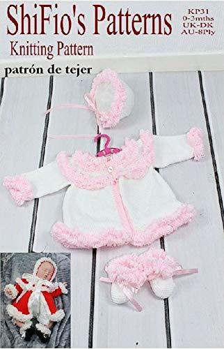 Amazon.com: patrón para dos agujas - KP31 - chaqueta matinée ...