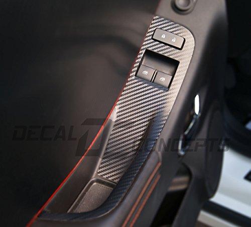 - Camaro Carbon Fiber Door Switch Panel Trim Accent Decal kit(2012-2015)
