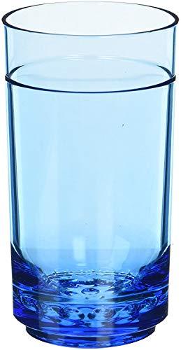Drinique ELT-TA-BLU-24 Elite Tall Unbreakable Tritan Highball Glasses, 14 oz (Case of 24), Blue by Drinique (Image #1)
