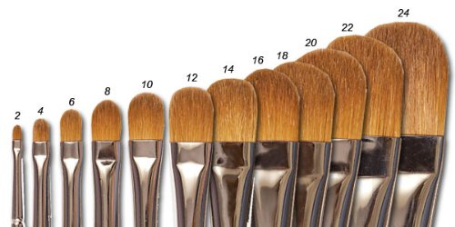 Raphaël Red Sable Brush Series 8722 Almond Filbert 16 by Raphael Brush