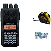 Bundle - 3 Items - Includes Kenwood TH-K20 Handheld radio, 2m, 5.5w with the New Radiowavz Antenna Tape (2m - 30m) and HAM Guides Quick Reference Card