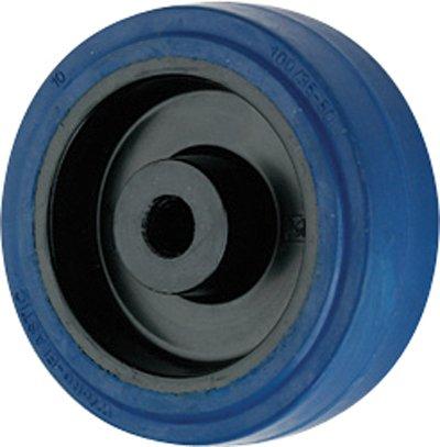 100mm Blue Elastic Rubber Wheel Coldene Castors Ltd