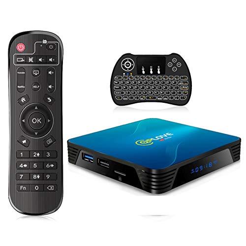 4 GB 128 GB TV-box Android 10.0 QPLOVE Smart Android TV-box 4K RK3318 Quad-Core 64-bit H.265 HDMI 2.0 USB 3.0 WiFi 2.4G…