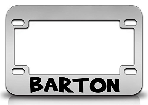 I LOVE BARTON Male Names Metal MOTORCYCLE License Plate Frame ()
