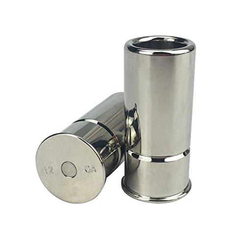Tourbon Hunting Brass Shotgun 12 Gauge Snap Cap -Silver (Pack of 2 pieces)