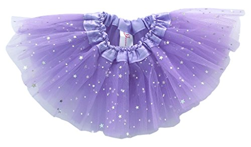 Dancina Baby Girls' Toddlers Tutu Glitter Triple Layer Tulle 6 Months to 2 Years,Light Purple,One (Big Poofy Dresses)