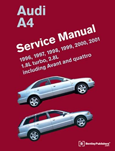 audi a4 b5 service manual 1996 1997 1998 1999 2000 2001 rh amazon com 1998 Dodge Stratus Manual 1998 Audi A4 Silver