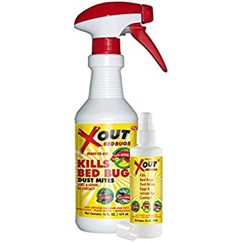 Amazon com : Xout Anti Bed Bug Spray Kit, Kills Bed Bugs and