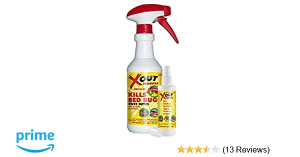 X Out Reviews >> Xout Anti Bed Bug Spray Kills Bed Bugs And Dust Mites Eggs And Larva On Contact Safe Around Children And Pets Kit Pack
