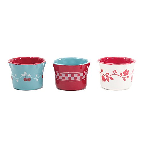 - Gibson Home General Store Cherry Diner 3.5in Ramekins, Assorted Designs