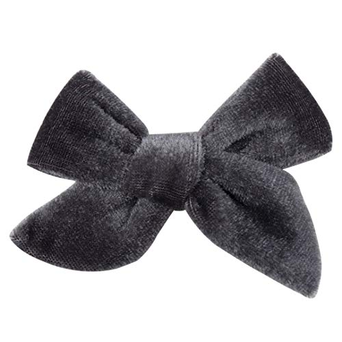 1Pc Hair Accessories Solid Velvet Hair Bows 3.5 Inch Lovely Hair Clips For Girls/Kids Hairgrips Handmade Bow-Knot Clip Headwear 1