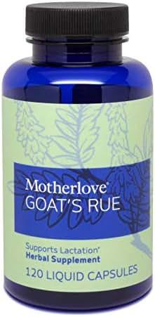 Motherlove Goat's Rue (120 ct.) Herbal Galactagogue Breastfeeding Supplement to Support Mammary Tissue Development & Milk Supply
