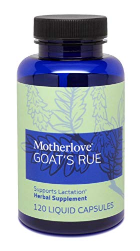 - Motherlove - Goat's Rue, Potent Herbal Breastfeeding Supplement, Supports Mammary Tissue Development & Breast Milk Supply, Alcohol-Free Vegan Liquid Capsules with Organic Goat's Rue Herb, 120 ct.