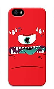 3D Hard Plastic Case for iPhone 5 5S 5G,Red Monster Case Back Cover for iPhone 5 5S